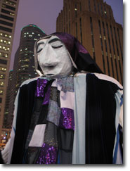 The puppet who leads the memorial march.